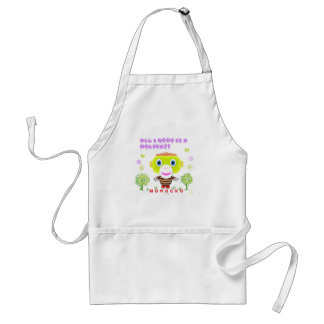 All I Need Is a Holiday-Cute Monkey-Morocko Adult Apron