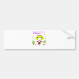 All I Need Is a Holiday-Cute Monkey-Morocko Bumper Sticker