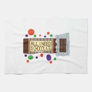 All I Need Is Chocolate Hand Towels
