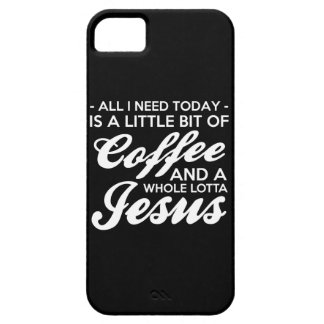 All I Need Is Coffee And Jesus Fun Popular Graphic iPhone SE/5/5s Case
