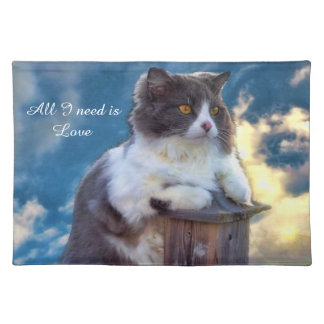 """All I need is love"" Placemat"