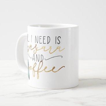 Coffee Themed All I Need Is Mascara and Coffee Mug