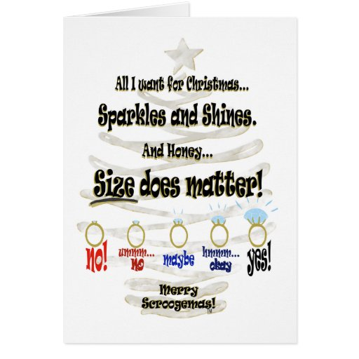 All I Want For Christmas - 5 Rings Card