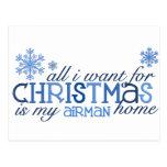 All I want for Christmas ... Airman Postcard