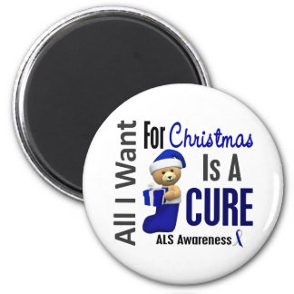 All I Want For Christmas ALS 2 Inch Round Magnet