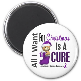 All I Want For Christmas Alzheimer's Disease 2 Inch Round Magnet