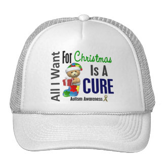 All I Want For Christmas Autism Hats