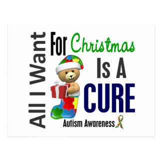 All I Want For Christmas Autism Postcard