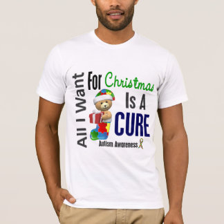 All I Want For Christmas Autism T-Shirt