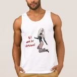 All I want for Christmas blonde woman lingerie Tank Top