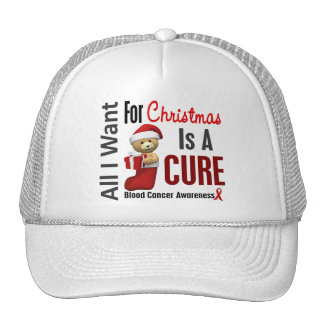 All I Want For Christmas Blood Cancer Hat
