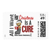 All I Want For Christmas Brain Cancer Postage