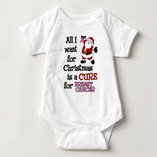 All I Want For Christmas...Breast Cancer Baby Bodysuit