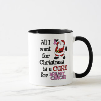 All I Want For Christmas...Breast Cancer Mug