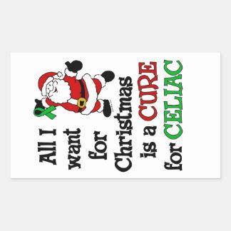 All I Want For Christmas...Celiac Rectangular Sticker