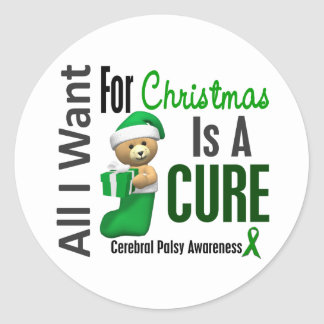 All I Want For Christmas Cerebral Palsy Stickers