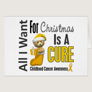 All I Want For Christmas Childhood Cancer Card