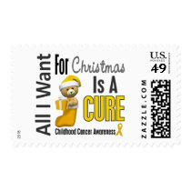 All I Want For Christmas Childhood Cancer Postage