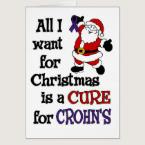 All I Want For Christmas...Crohn's Card