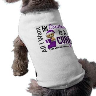 All I Want For Christmas Crohn's Disease Dog Tee Shirt