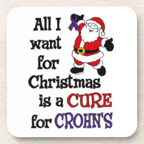 All I Want For Christmas...Crohn's Drink Coaster