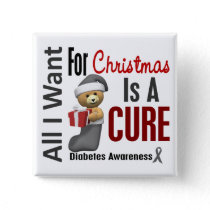 All I Want For Christmas Diabetes Button