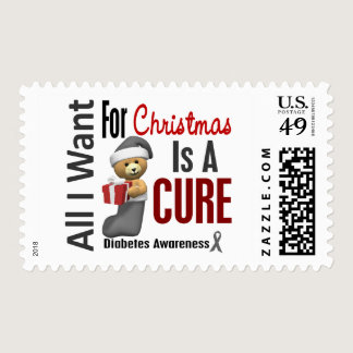 All I Want For Christmas Diabetes Postage