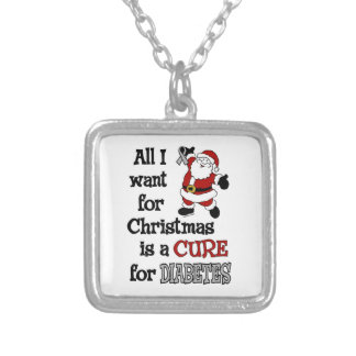 All I Want For Christmas...Diabetes Silver Plated Necklace