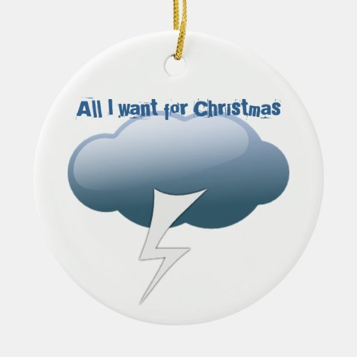 All I want for Christmas Double-Sided Ceramic Round Christmas Ornament