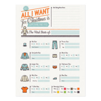 All I Want For Christmas Funny Postcard