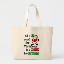 All I Want For Christmas...Gastroparesis Large Tote Bag