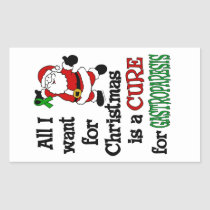 All I Want For Christmas...Gastroparesis Rectangular Sticker