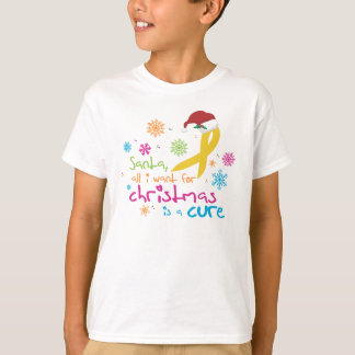 All I want for Christmas is a cure T-Shirt