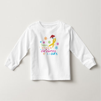 All I want for Christmas is a cure Toddler T-shirt