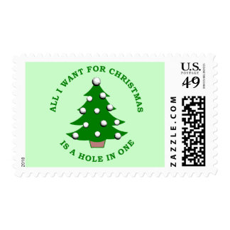 All I Want For Christmas Is A Hole In One Stamp