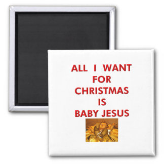 All I Want for Christmas is Baby Jesus Magnet