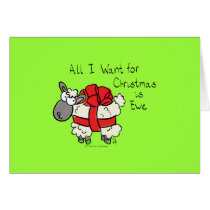 All I Want For Christmas is Ewe Card Horizontal