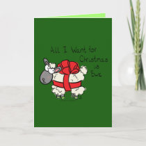 All I Want for Christmas is Ewe  Funny Sheep Card