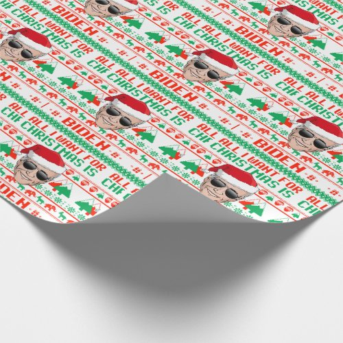 All I want for Christmas is Joe Biden Wrapping Paper