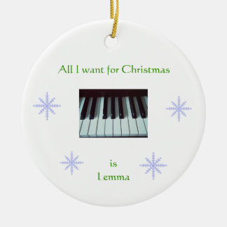 All I Want for Christmas is Lemma Ornament