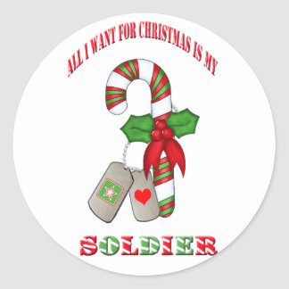 All I Want For Christmas Is My Soldier Sticker