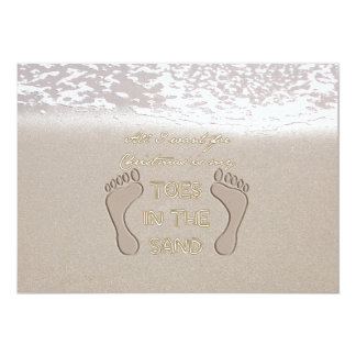 All I Want For Christmas is My Toes in the Sand 5x7 Paper Invitation Card