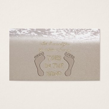 Beach Themed All I Want For Christmas is My Toes in the Sand Business Card