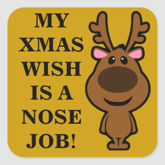 All I Want for Christmas is Plastic Surgery Sticker