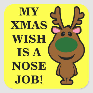 All I Want for Christmas is Plastic Surgery Square Sticker