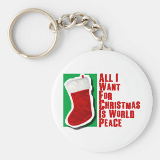 All I Want for Christmas is World Peace Keychain