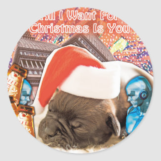 All I Want For Christmas Is You Classic Round Sticker