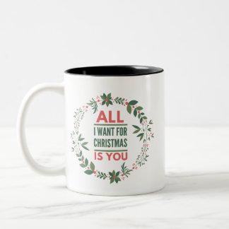 All I Want For Christmas Is You Couple Coffee Two-Tone Coffee Mug