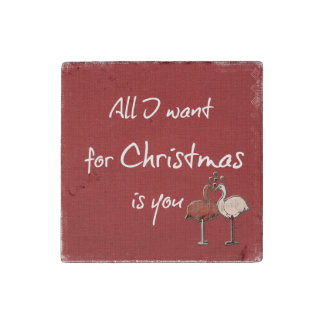 All I want for Christmas is You Stone Magnet