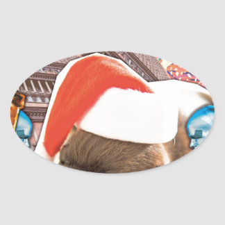 All I Want For Christmas Is You Oval Sticker